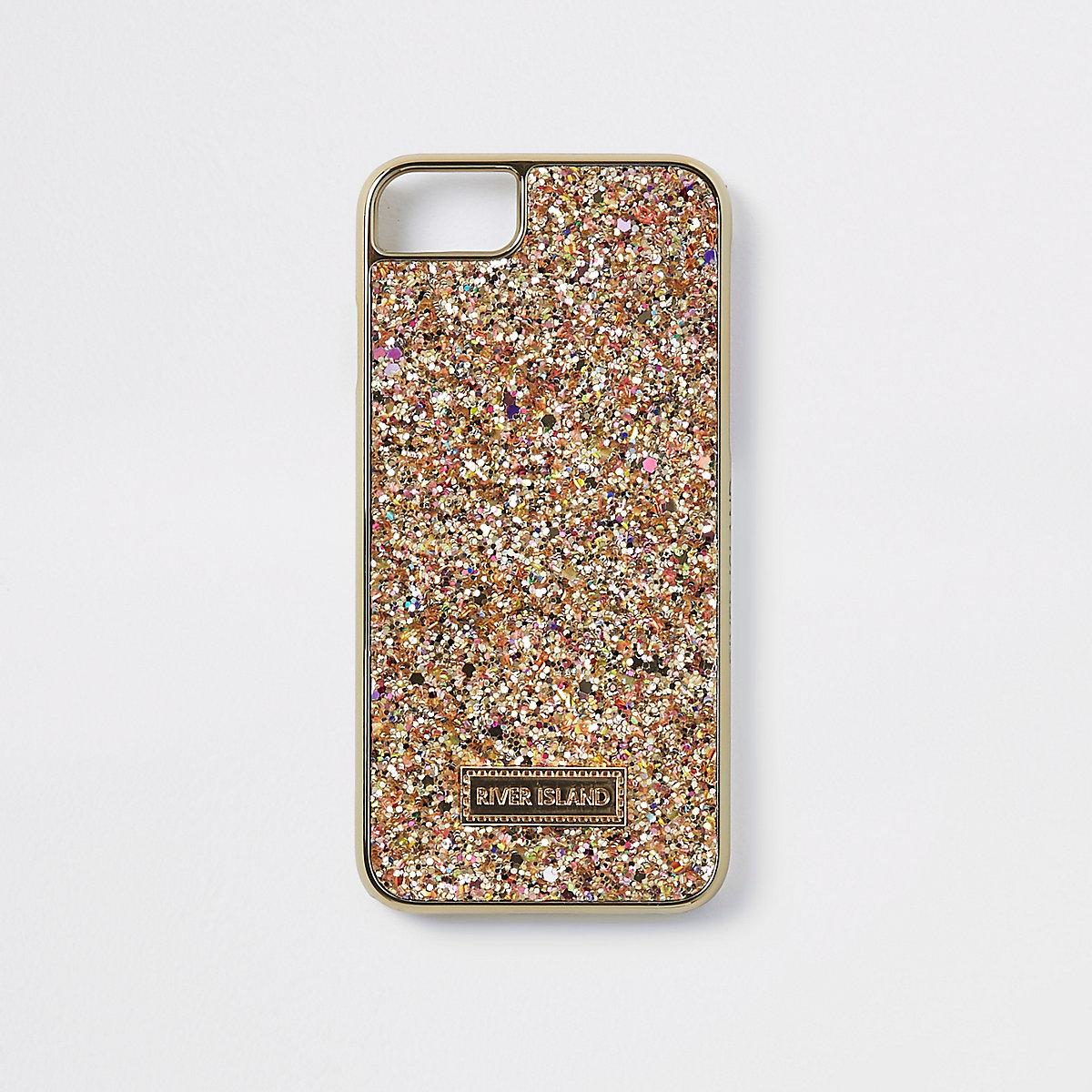 Gold glitter phone case