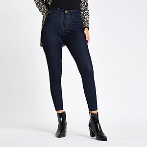 Dark blue Harper high rise skinny jeans