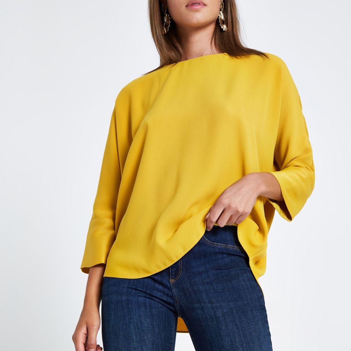 Mustard yellow bar back top