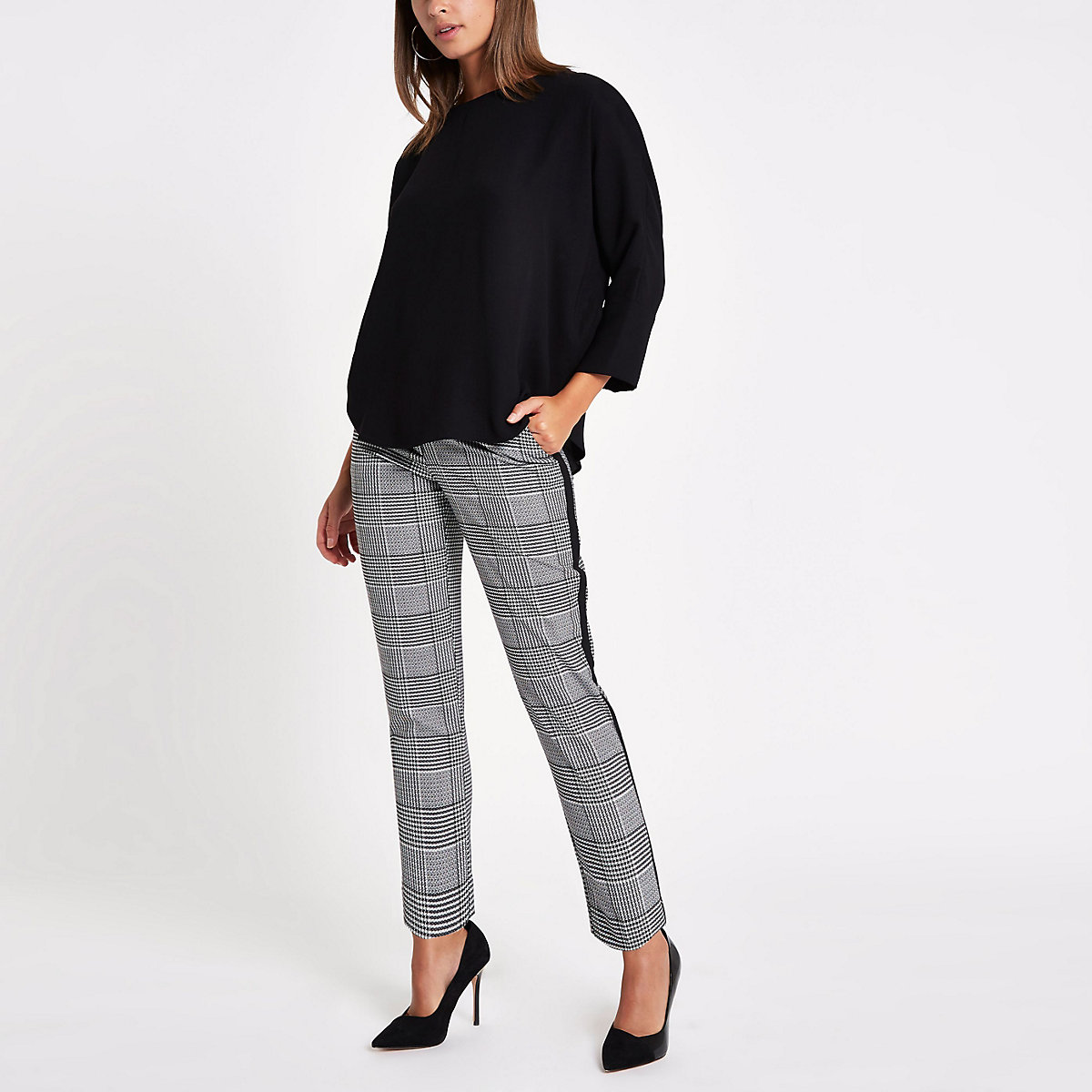 Black loose fit batwing top - Blouses - Tops - women
