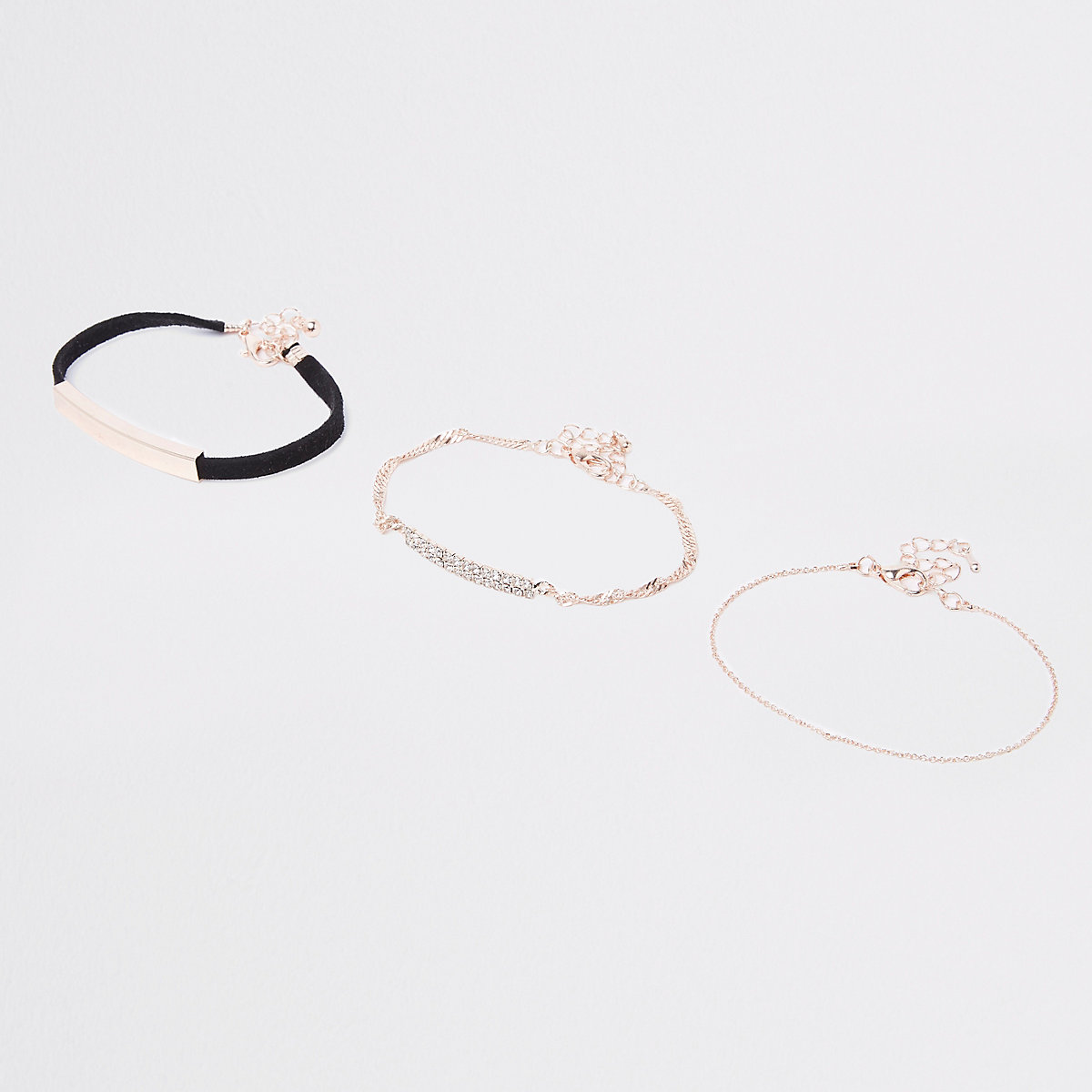 Gold tone sueduette bracelet multipack