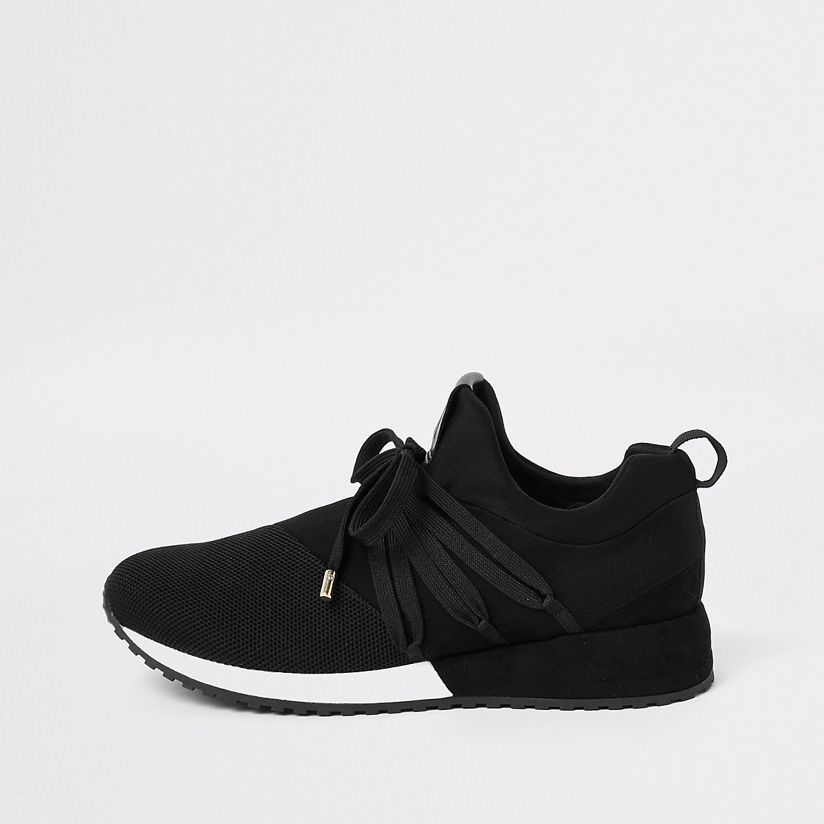 Black RI lace up runner trainers