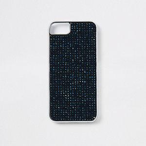 Black gem studded phone case