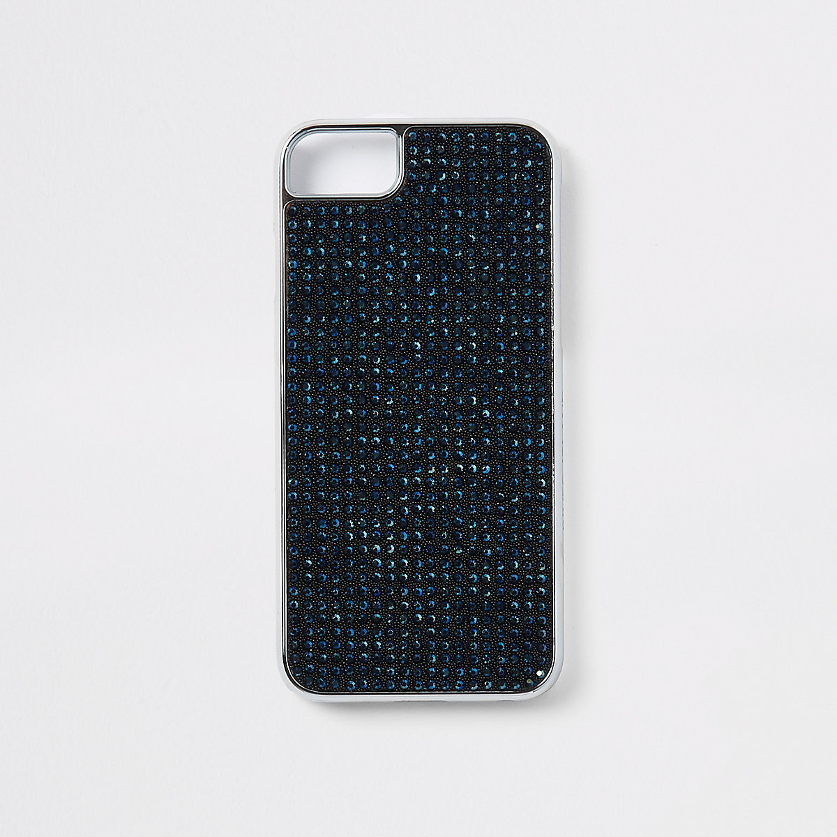 Black gem studded phone case