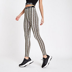 Cream tribal print leggings