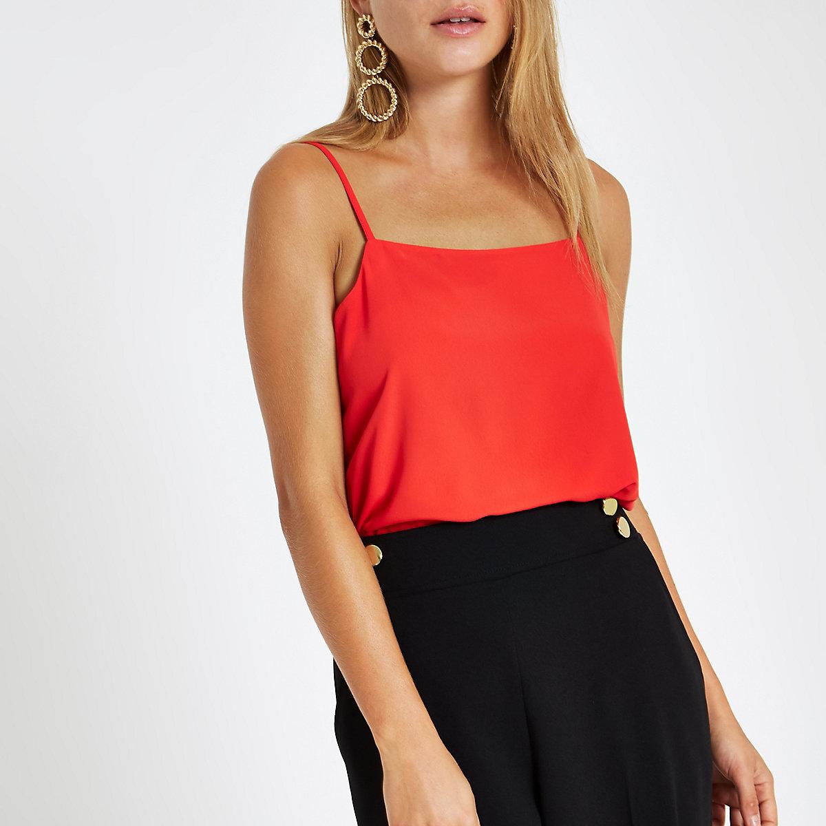 Red loose cami top