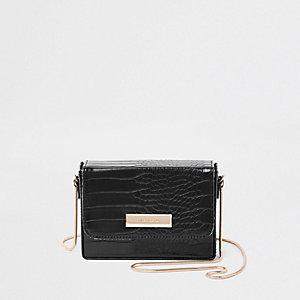 Mini sac à bandoulière noir rigide