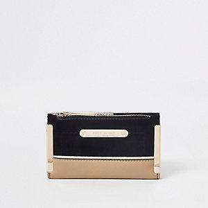 Zwarte mini-portemonnee
