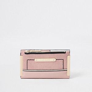 Pink mini foldout purse