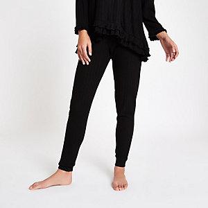 Pantalon de joggingample noir côtelé