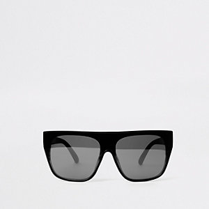 Zwarte visor zonnebril met getinte glazen