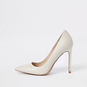 Lederpumps in Beige