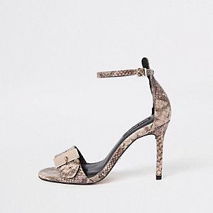 Barely There – Beige Sandalen mit Schnalle