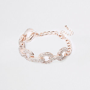 Gold tone diamante encrusted bracelet