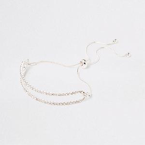 Silbernes Armband mit Strasssteinen