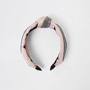 Pinkes, glitzerndes Haarband