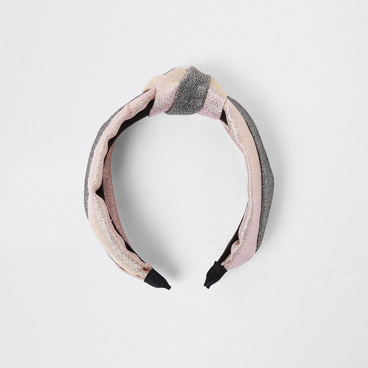 Pink mixed glitter hairband
