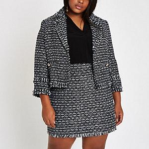 Plus navy boucle jacket