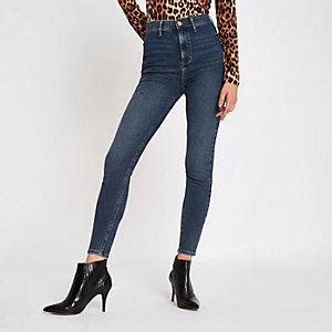 Kaia – Mittelblaue Skinny-Jeans mit hohem Bund