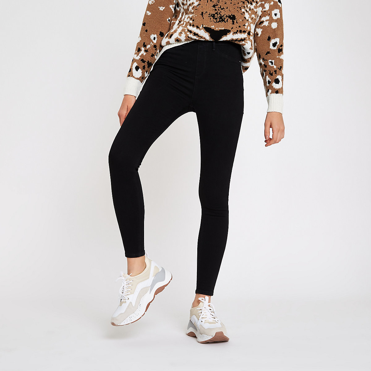 Black Cici pull on jeggings