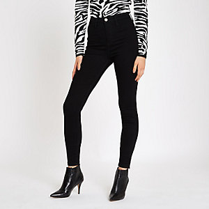 Black Kaia high waisted skinny disco jeans