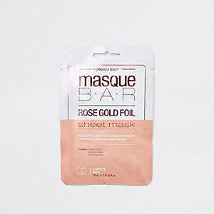 Masque Bar rose gold foil sheet face mask