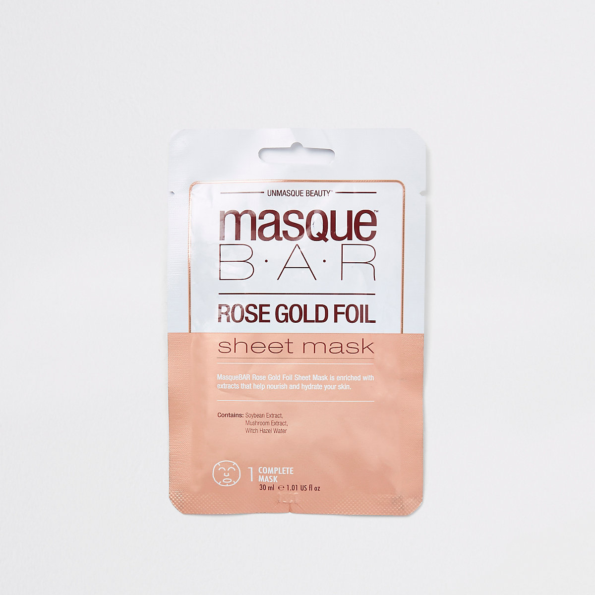 Masque Bar rose gold foil sheet face mask