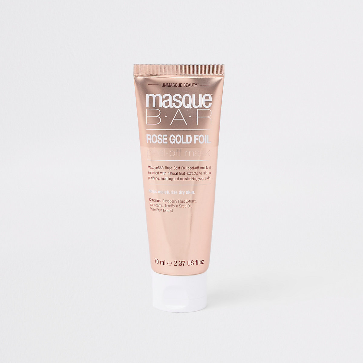 Masque Bar rose gold face mask tube