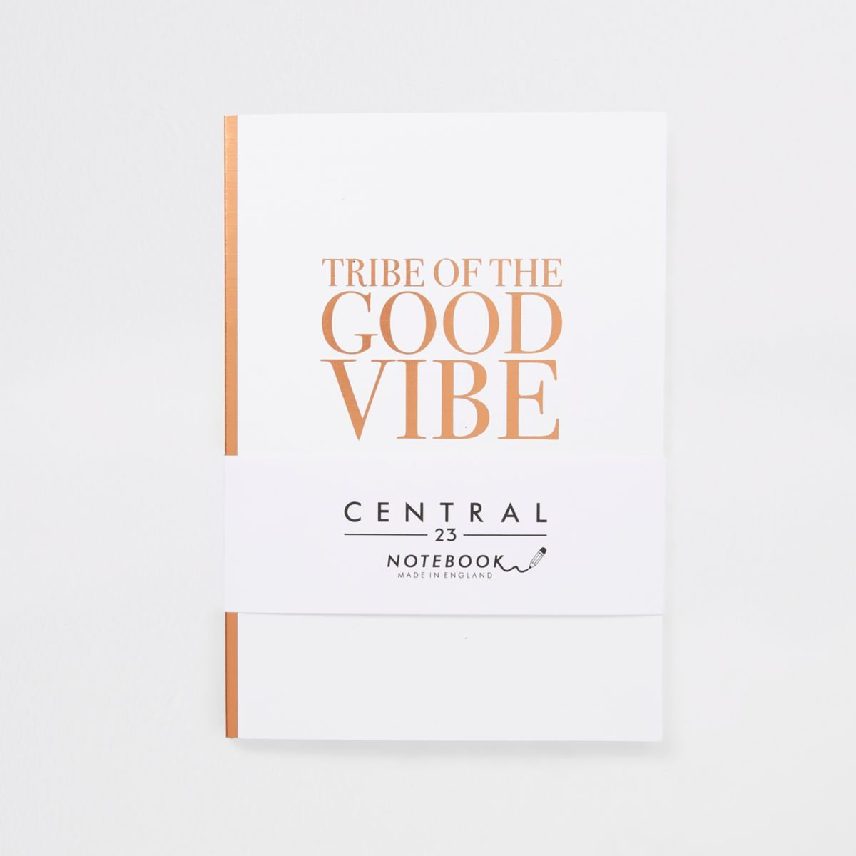 Central 23 white 'good vibe' notebook