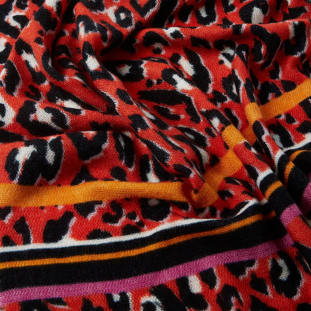 Écharpe imprimé léopard rouge - Écharpes - Accessoires - Femme aab7db69f6f
