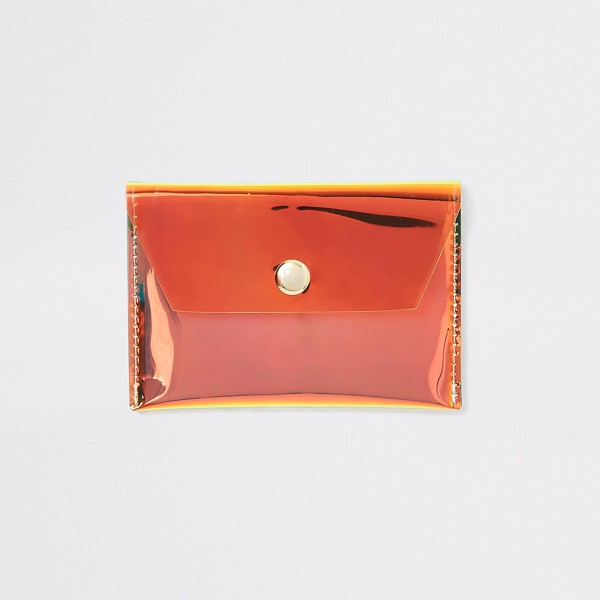 Gold holographic perspex coin purse
