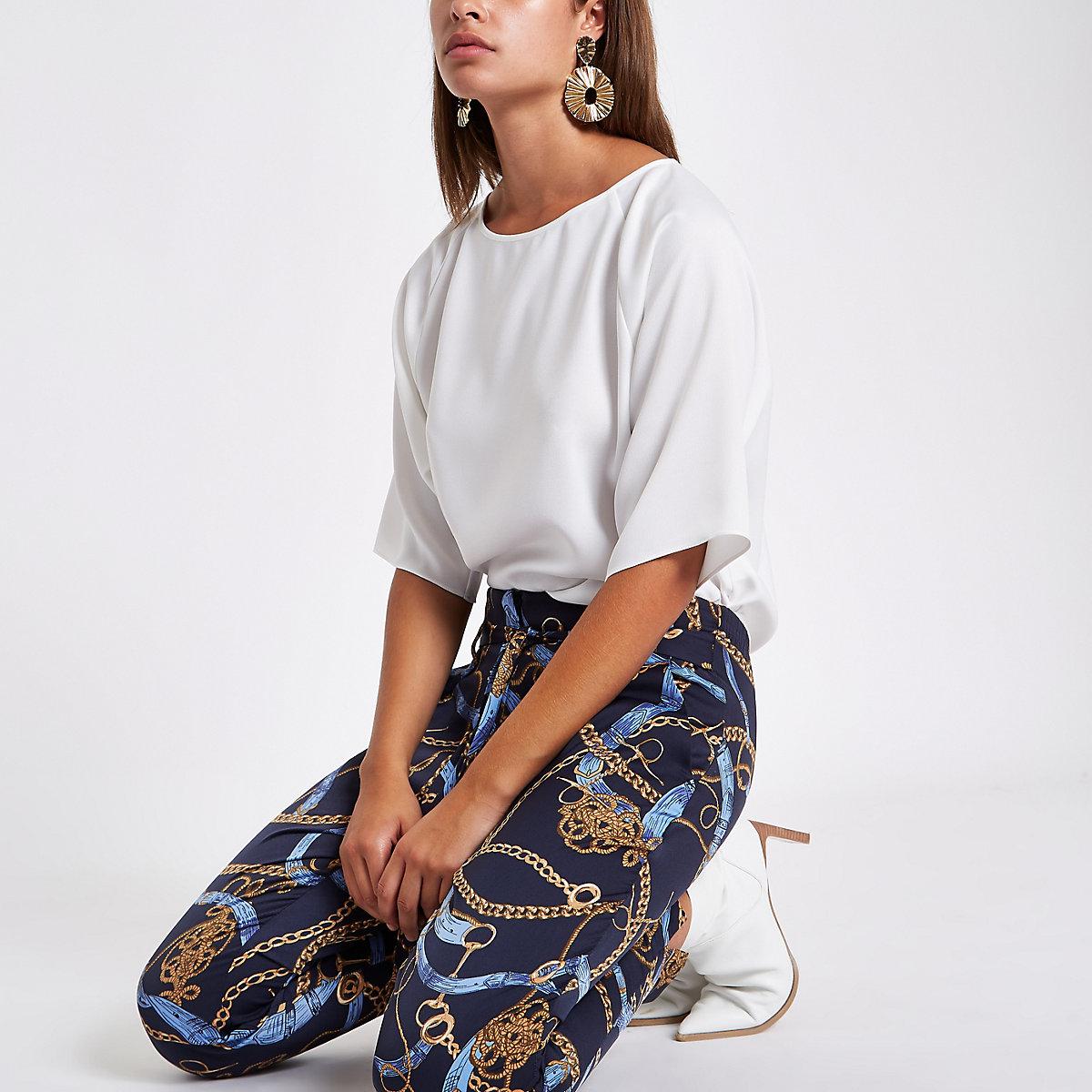 Cream loose fit blouse