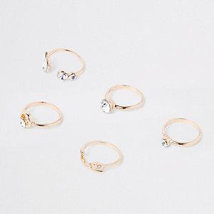 Goldene Fingerspitzenringe, Set