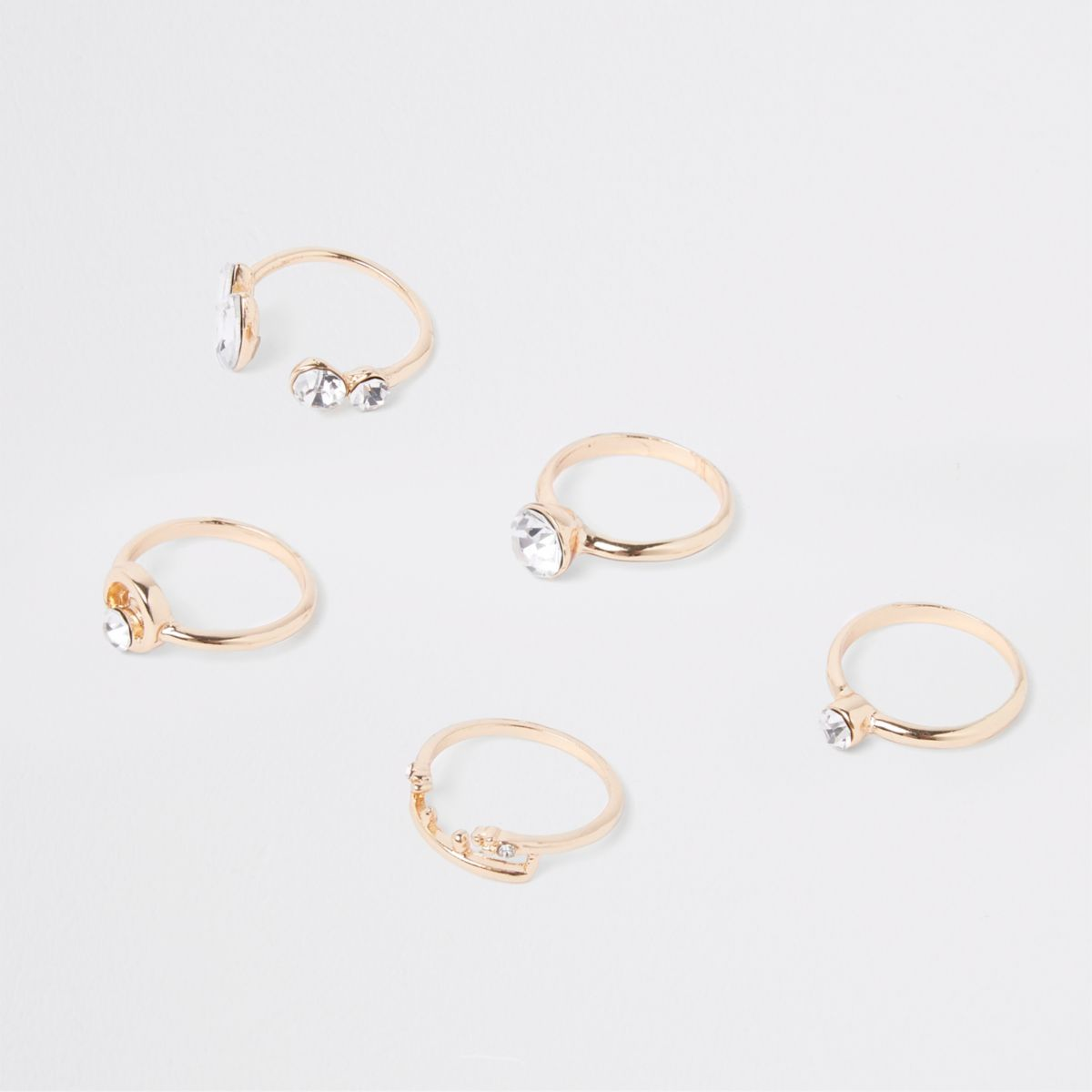 Gold tone finger top ring multipack
