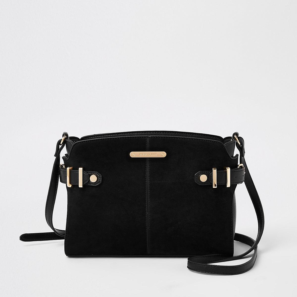 Black tab side cross body bag - Cross Body Bags - Bags   Purses - women 8ad3182cecb60