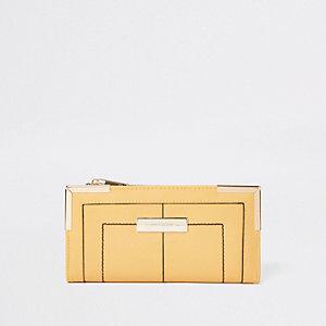 Yellow fold out purse