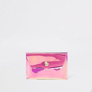 Gele holografische portemonnee van perspex
