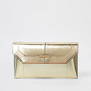 Pochette enveloppe dorée métallisée