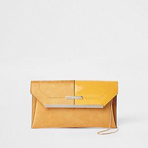Pochette enveloppe jaune