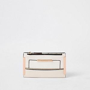 White mini slim foldout purse