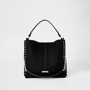 Zwarte tas met studs