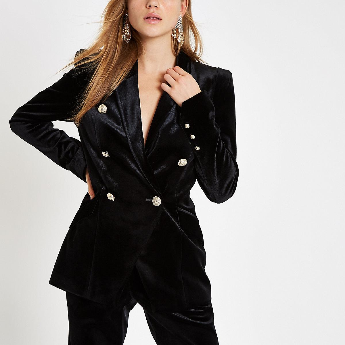 Black velvet tux jacket