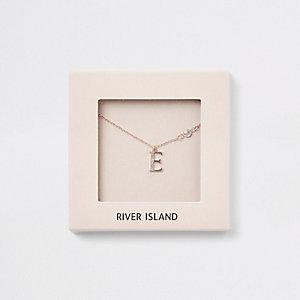 "Kette in Roségold ""E"""