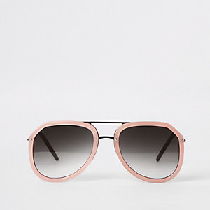 Pilotensonnenbrille in Pink