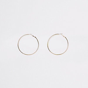 Gold color hoop earrings