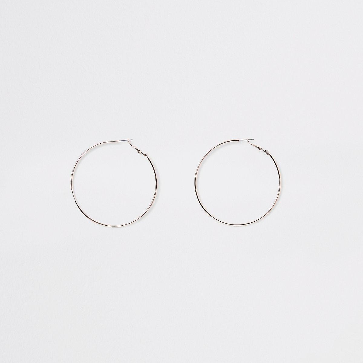 Rose gold color hoop earrings