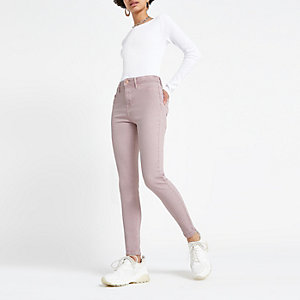 Light pink Molly mid rise jeggings