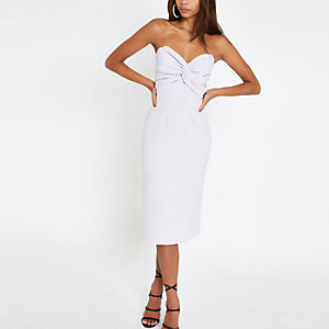 Bandeau-Bodycon-Kleid in Lila