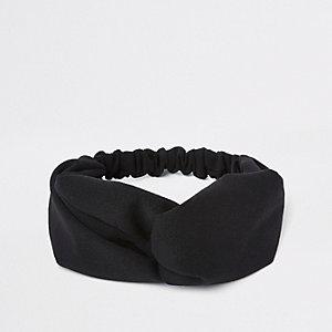 Schwarzes, sportliches Haarband