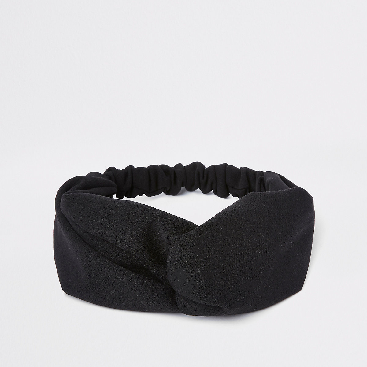 Black sporty twist headband
